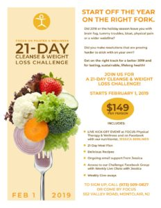 21-Day Cleanse & Weight Loss Challenge Flyer - Focus Physical